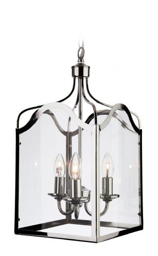 Firstlight 8638CH Chrome with Clear Glass Monarch Lantern - 3 Light